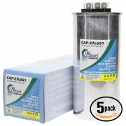5-Pack 80/ 5 MFD 370 Volt Dual Round Run Capacitor