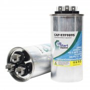 2-Pack 45/5 MFD 370 Volt Dual Round Run Capacitor