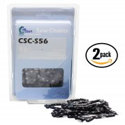 "2-Pack 16"" Semi Chisel Chainsaw Chain (3/8"" Low Profile Pitch, 0.050"" Gauge, 56 Drive Links)"
