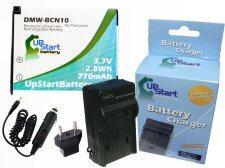 Panasonic DMW-BCN10 Battery and Charger Kit with Car Plug and EU