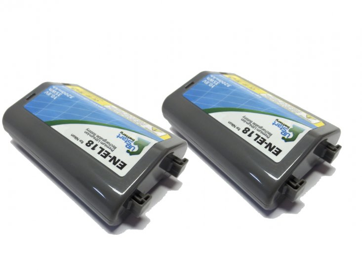 2-Pack Nikon EN-EL18 Decoded Battery - Click Image to Close