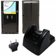 2-Pack Kenwood KNB-17A Battery + Charger and EU Adapter