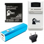 Logitech L-LL11 Battery with Universal Charger (100/240V), 3000mAh Portable External Battery Charger and EU Adapter