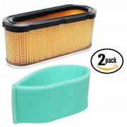 2-Pack Briggs & Stratton 496894S Air Filter & 272403S Pre Cleaner Filter