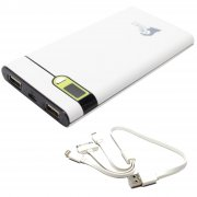10400mAh Portable External Battery Charger & Multiple USB Cable