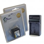 2-Pack Panasonic VW-VBN130 Battery and Charger Kit