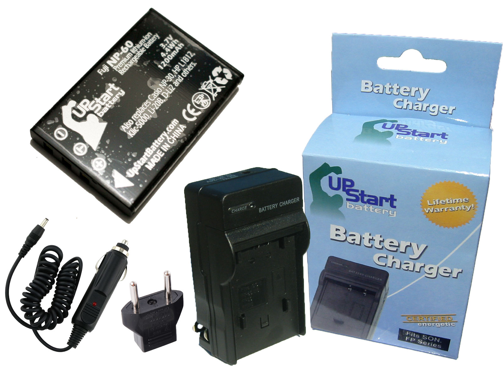 UpStart Battery Ricoh DB-40 Battery and Charger with Car Plug and EU Adapter - Replacement for Ricoh DB-40 Digital Camera Batteries and Chargers at Sears.com